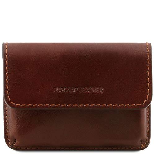 Tuscany Leather Esclusivo porta biglietti da visita in pelle Marrone