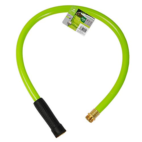 Worth Garden 5/8 in. x 3ft Short Hose - Replacement Leader Hose for Hose Reel- Durable PVC Non Kinking Heavy Duty Water Hose with Brass Hose Fittings - 12 Years Warranty