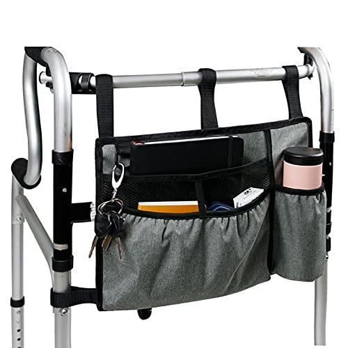 Bolsa de almacenamiento para caminadores, bolsa de almacenamiento colgante, impermeable, bolsa para silla de ruedas para caminantes estándar, sillas de ruedas, caminantes bariátricos, bolsa de almac