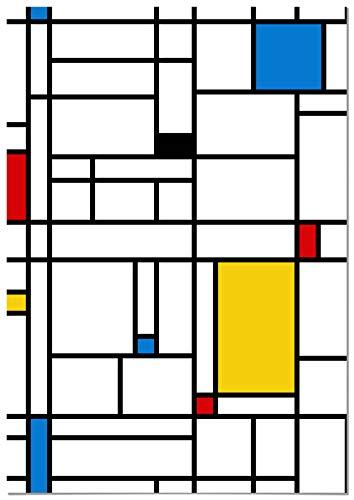 Panorama Póster Piet Mondrian 50x70cm - Impreso en Papel 250gr - Póster Pared - Láminas para Enmarcar - Cuadros Decoración Salón - Pósters Decorativos - Cuadros Modernos