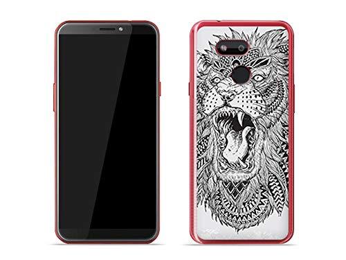 etuo Handyhülle für HTC Desire 12s - Hülle Fantastic Hülle - Indianer Löwe - Hülle Schutzhülle Etui Hülle Cover Tasche für Handy