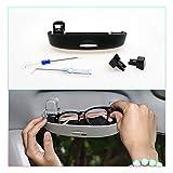 CDEFG Auto Coche Gafas Caja Organizador Gafas de Sol Soporte Almacenamiento Bolsillos para Toyota Corolla E210 2019 2020 (Negro)