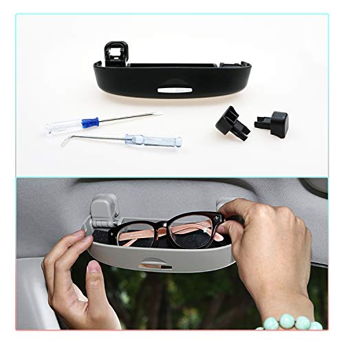 CDEFG Sonnenbrillenhalter Brillenetui für Toyota CHR [2016-2020] Auto Brillenhalter Auto Glasses Case Holder Brillenetui Käfig (Schwarz)