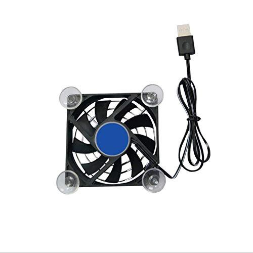 Preisvergleich Produktbild Creacom Dual Head Auto Fan,  360 ° drehbarer 2-Gang-Modus Einstellbarer Dual Head Auto Fan mit Sticky Pad