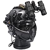 AQzxdc Airsoft Protection Set, Fast Helmet & Tactical Headset & Goggles & Face Shield & Night Vision Model, for Outdoor Paintball Hunting Shooting Games,Sets g