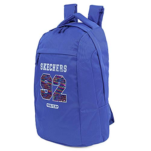 SKECHERS - Mochila Tipo Casual Unisex con Bolsillo Interior para iPad Tablet Ideal para Uso Diario Prática y Versátil S898, Color Azul Tattoo