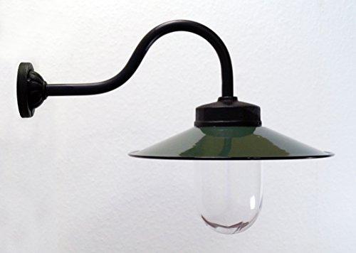Außenleuchte nach historischem Modell Gartenlampe Hoflampe Außenlampe Landhausstil Modell Kaprun dunkelgrün