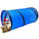 YOUSAMS Cat Tunnel,Collapsible Cat Play Tunnel with Bells Indoor Outdoor Cat Toy for Cat,Puppy,Rabbits or Small Pet