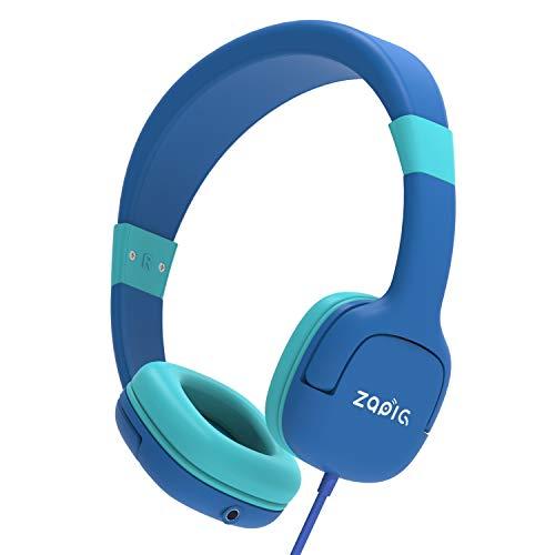 ZAPIG kopfhörer für Kinder mit 85dB Lautstärkebegrenzung Gehörschutz & Musik-Sharing-Funktion, Faltbare Kinderkopfhörer - Dunkelblau