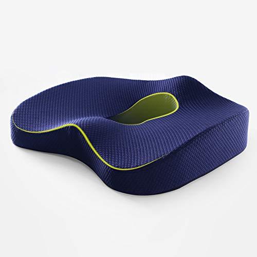 AECOR Car seat Cushion, Non-Slip Orthopedic Memory Foam Seat Cushion for Office Chair Car Wheelchair Back Support Sciatica Coccyx Tailbone Pain Relief