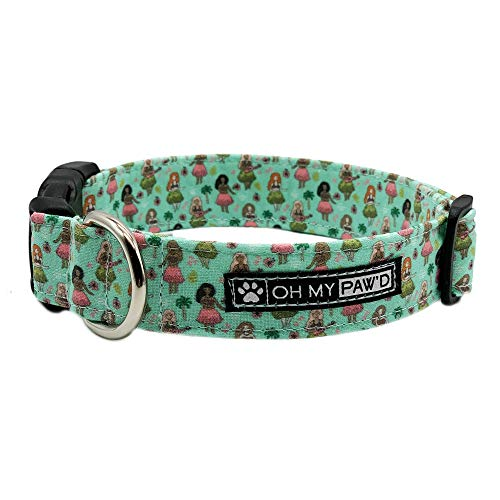 Hand Made Dog Collar by Oh My Pawd Lucky Charms Collar for Pets Size Extra Small 5//8 Inch Wide and 9-12 Inches Long