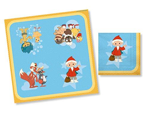 DH-Konzept 20 Servietten * SANDMÄNNCHEN * für Kinderparty und Kindergeburtstag | Sandmann Napkins Papierservietten Party Set