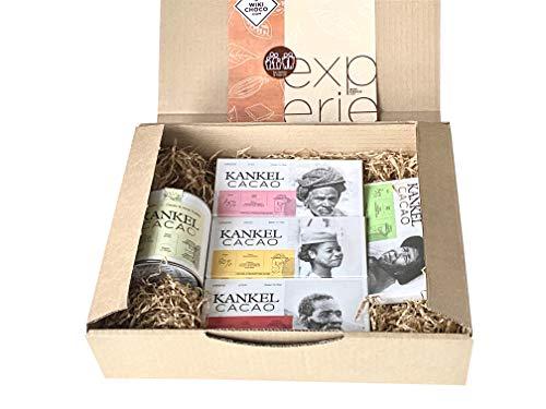 WIKICHOCO - Pack de chocolate gourmet con tabletas de chocolate y trufas al vino blanco - Experiencia interactiva hasta para 8 personas - Comercio justo