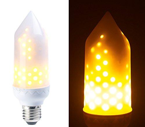 Luminea Flammenlampe: LED-Flammen-Lampe mit realistischem Flackern, E27, 5 W, 304 Lumen, A+ (LED Flammenlampe)