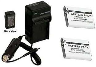 TWO 2 D-LI92 DLI92 Battery + Charger for Pentax Optio RX18 RZ18 WG-1 WG1