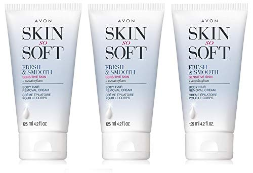 Avon Skin So Soft Fresh & Smooth Sensitive Skin Body Hair Removal...