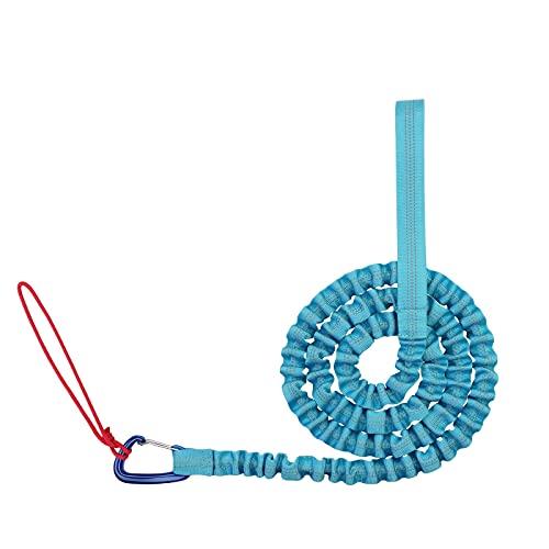 KnuraLA Abschleppseil Fahrrad KinderTraktionsseil -Eltern-Kind-Zugseil Fahrrad Abschleppseil Kinder 3 m Gedehnt Abschleppseile,Bis 500 lb/225 kg, Mit Sicherheitshaken (Blue)
