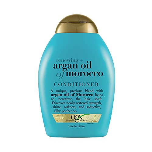 OGX Renewing + Argan Oil of Morocco Hydrating Hair Conditioner, Cold-Pressed Argan Oil to Help Moisturize, Soften & Strengthen Hair, Paraben-Free with Sulfate-Free Surfactants, 13 Fl Oz