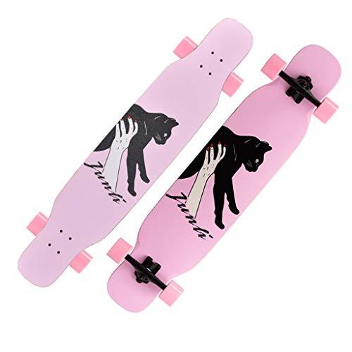 ZWLI Ahorn Longboard Junge Mädchen Pinsel Street Dance Board Anfänger Erwachsene Teen Allrad Skateboard Skateboards Sport & Outdoor 7-schichtiges Ahornholz