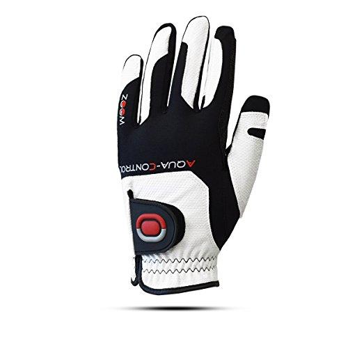 ZOOM Aqua Control Damen Regen Golfhandschuh - Linkshand für Rechtshänder (White/Black/red)