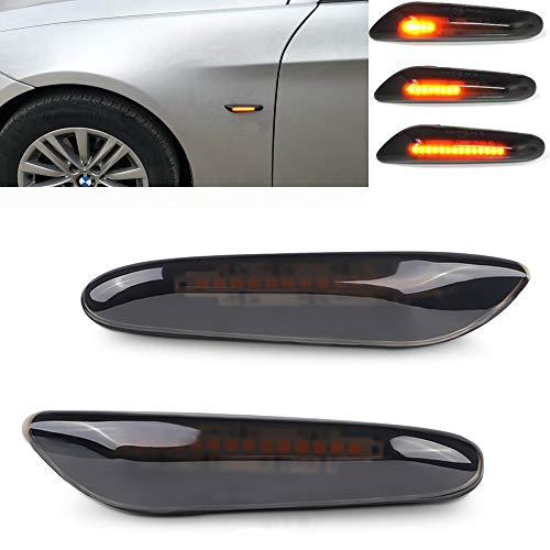 csslyzl Dynamic Amber LED Side Marker Light Sequential Blinker Turn Signal Lamp Assembly For BMW E82 E87 E90 E91 E92 E93 E60 E46 E83 X3 E53 X5 335i 328i 330i
