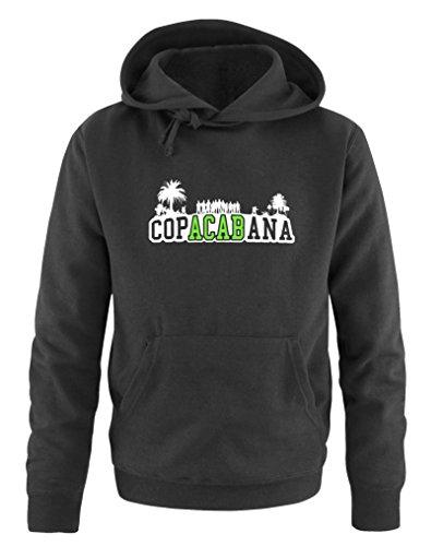 Comedy Shirts - Copacabana Palmen - Herren Hoodie - Schwarz/Weiss-Neongrün Gr. 3XL