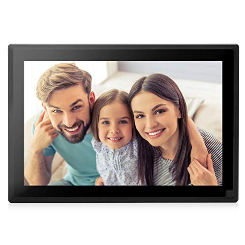 Dhwazz Digital Picture Frame, 10 Inch WiFi No Subscription Fee 1920X1200 FHD 32GB Photo Frames with LCD Touch Screen, Share Moments via Email, APP, Facebook, Twitter, Support Video and Music