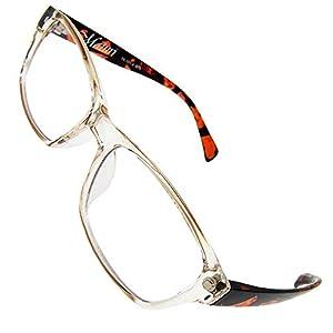 クリアレオパードフレーム ブルーライトカット メガネ PC眼鏡 伊達メガネ 伊達眼鏡 だてめがね だて眼鏡 度なしメガネ ファッションメガネ めがね 眼鏡 疲れにくい PC用 メンズ レディース 四角 透明 色なし パソコンメガネ パソコン用メガネ 軽い uvカット ウェリントン スクエア ブロー 疲れにくい 紫外線カット ブルーライト カット プレゼント ギフト 父の日 MATK-101-4_g3