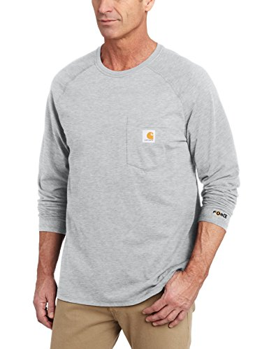 Carhartt Force T-Shirt .100393.034.s005 Baumwolle Lange Ärmel, L/S, Farbe: Heather Grey, Größe: Medium