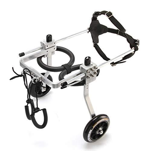 ZZQ Behinderter gelähmter Haustier-Rollstuhl/General Paralysis-Hundescooter/untauglicher Katzen- / Hunderehabilitationsrollstuhl SML,M