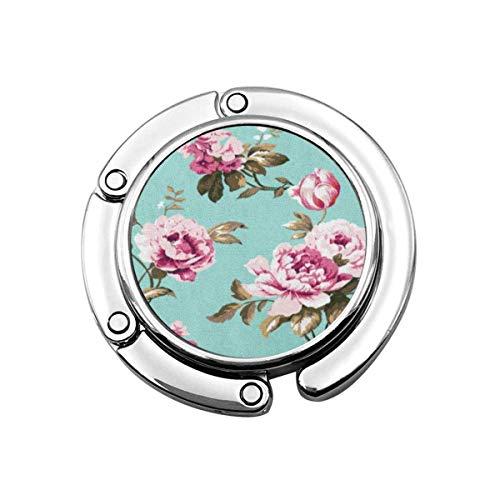 Geldbörse Kleiderbügel Blau Botanical Shabby Chic Vintage Rosen Tulpen Vergiss Mich Nicht Klassische Chintz Blumen Raster Rosa Handtaschenhaken