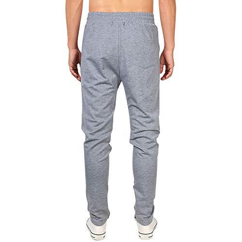 URIBAKY Homme Ceinture élastique à Long Coton Jogging Pantalons de survêtement Plus la Taille Mode Sport Cargo Pantalons Shorts avec Poches Joggers Activewear Pantalons