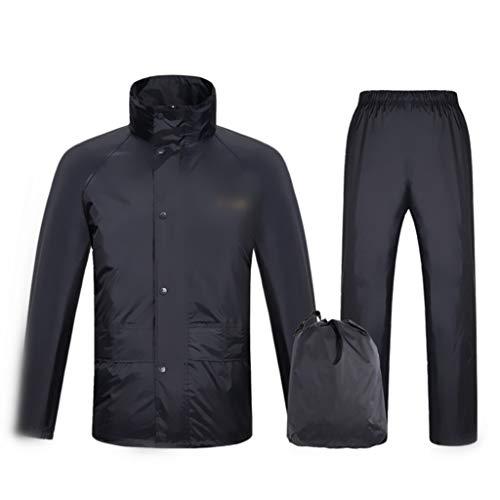 Impermeable Pantalones de Lluvia, Doble Impermeable espesante Suave Adulto Poncho al Aire Libre Poliéster Poliéster Material de protección Ambiental (Negro, Rojo) (Color : Red, Size : XX-Large)