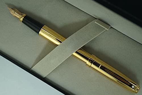 Cross Sheaffer Signature Prelude Collection con 22KT Gold citas barril y citas, sólido y estampado de oro de 14 KT Pluma estilográfica