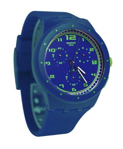 Swatch Blue C Blue Dial Silicone Chrono...