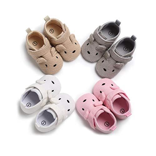 DEBAIJIA Zapatos de Bebé para 6-18 Meses Unisex Niños Niñas Primeros Pasos Pantuflas Infantiles Moda Casual Antideslizante Suave Suela con Cinta Mágica Zapatos de Casa Zapatillas de algodón