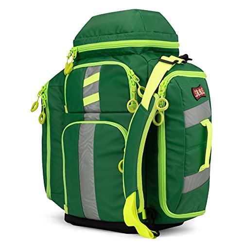 Statpacks G3 Perfusion Green, EMS Medic Hybrid Backpack, Side Sling, Shoulder Bag, Ergonomic, Lightweight ALS Trauma Bag for EMS, Police, Firefighters