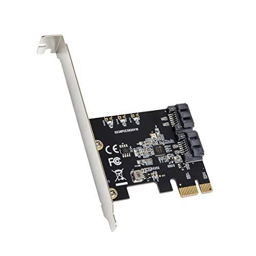 2 Port SATA III PCI-e 3.0 x1 Non-RAID Controller Card Jmicro Chipset SI-PEX40148