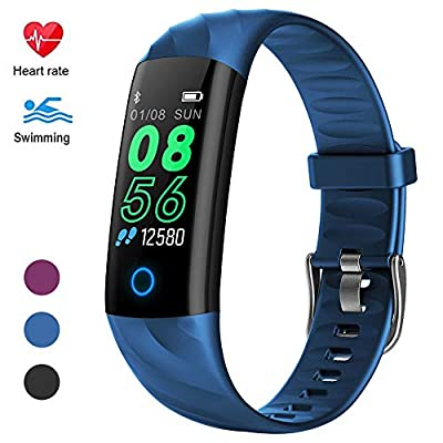 HuaWise Upgraded Waterproof Fitness Trackers,Activity Trackers with Breathable Lamps,Heart Rate and Sleep Monitor,Calorie Counter,Step Counter,Pedometer for Men Women Kids