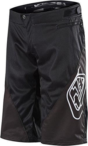 Troy Lee Designs Sprint Solid Men's Off-Road BMX Cycling Shorts - Black / 34