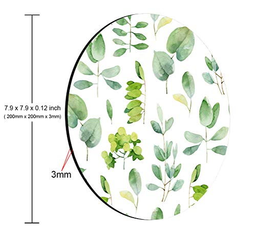 Amcove Green Leaf Mouse Pad Leaves Mouse Pad Round Mousepad Office Decor Mouse Mat Office Gift Mouse Pad Leaf Watercolor Mousepad Square Mouse Pad Photo #2