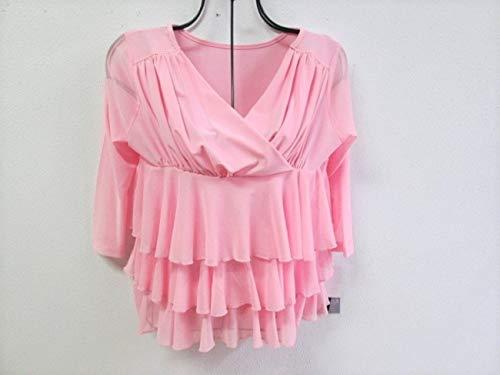 社交ダンス 衣装 トップス フリルふさふさ ピンク