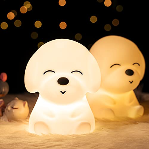 Night Light for Kids Room, Kids Night Light for Girls Baby and Toddler Gifts, Cute Puppy Night...
