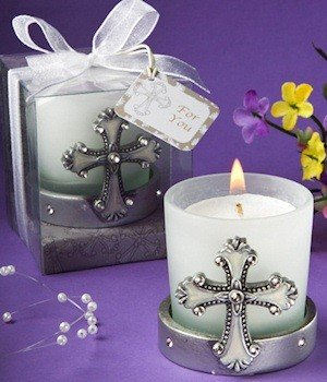 DISOK - Vela Cruz Comunión - Velas Originales para Comuniones - Detalles, Regalos y Recuerdos Comuniones Religiosos Cruces Cruz