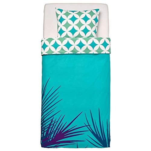 Ikea Gracios Duvet Cover and Pillowcase(s) Tile Pattern Turquoise Twin 204.624.48