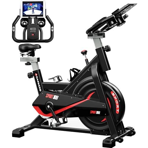 Vélo d appartement, vélos de fitness, vélo ergomètre, équipement de fitness Stepper pour la maison, volant d entraînement par courroie, support Ipads, siège réglable pour la maison et la salle