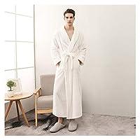 MGHN バスローブ カップルコーラルフリースバスローブ着物ローブ暖かい冬のホームパジャマ 浴衣 (Color : Men Robe 4, Size : X-Large)