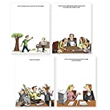 Funny Notepads (Paper Pads -funny office gift desk accessories) These cute notepads make for funny coworker gifts (office novelty)- pack of 4 pads (4.25 x 5.5 inches - 50 sheets each pad)