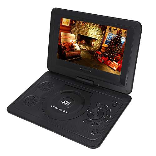 Topiky 13,9 inch DVD-speler, draagbaar, CD-/DVD-speler voor de auto, draaibaar, met speelfunctie, resolutie 800 x 480, LCD-display, groot geheugen met oplaadbare batterij, zwart.