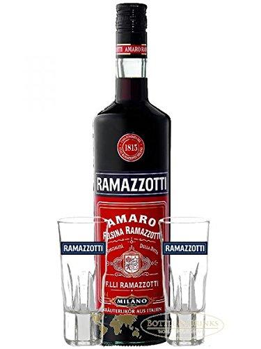 Ramazzotti Kräuterlikör aus Italien + 2 Gläser